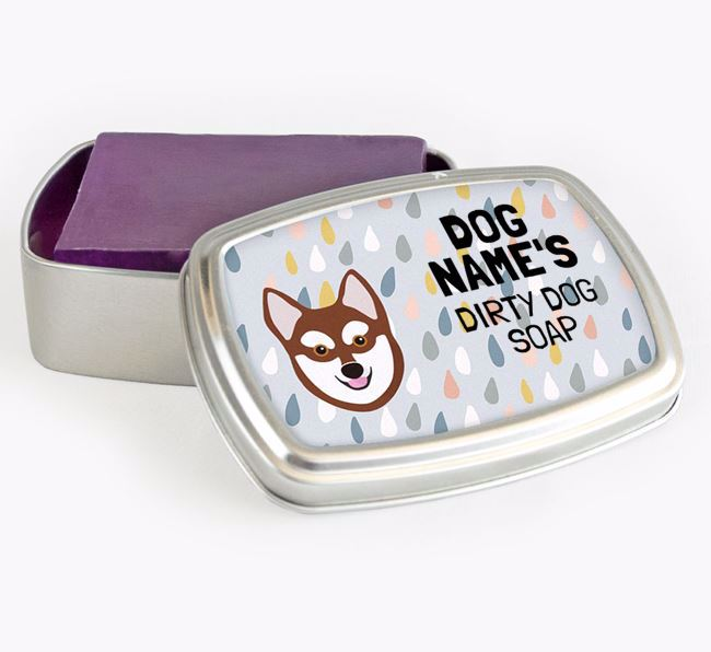 Personalised 'Dirty Dog' Soap Tin for your Alaskan Klee Kai