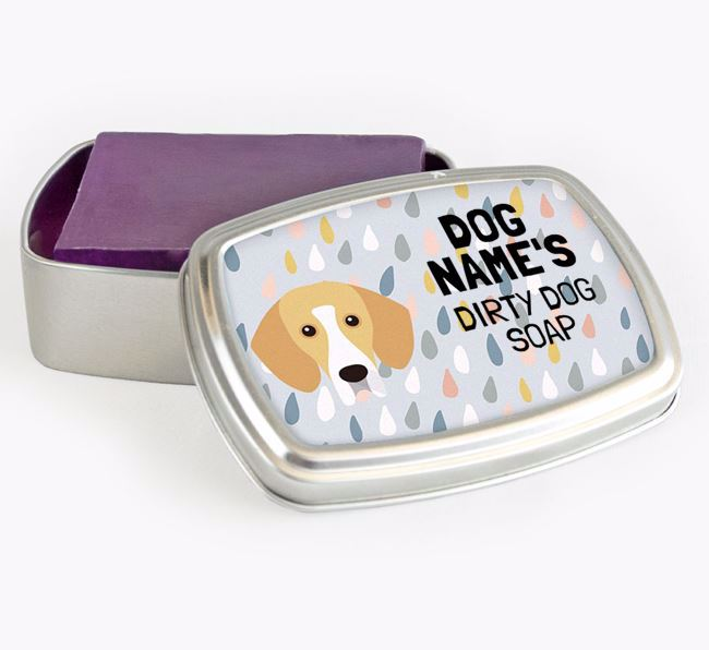 Personalised 'Dirty Dog' Soap Tin for your Bassador