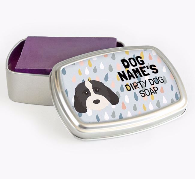 Personalised 'Dirty Dog' Soap Tin for your Cockapoo