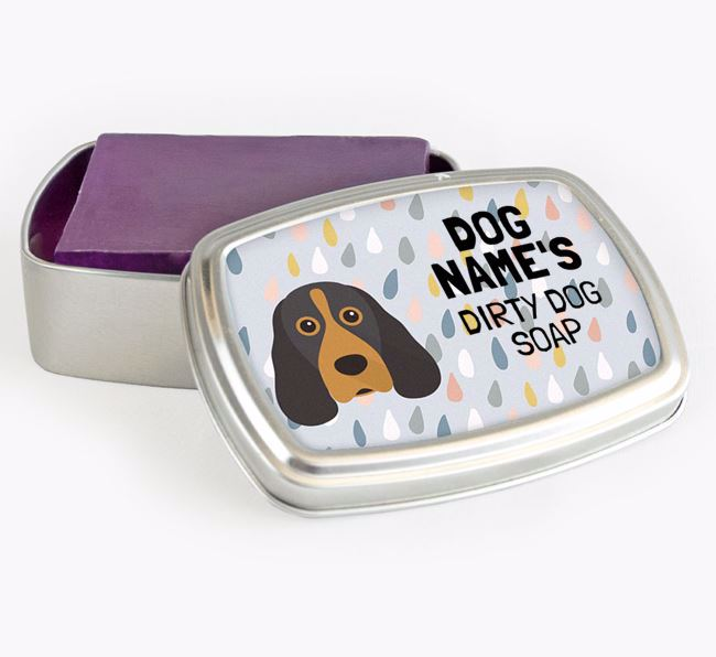 Personalised 'Dirty Dog' Soap Tin for your Cocker Spaniel