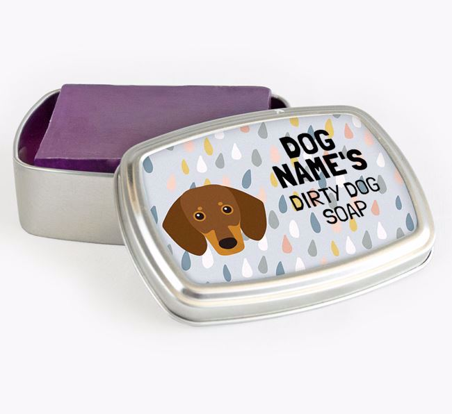 Personalised 'Dirty Dog' Soap Tin for your Dachshund