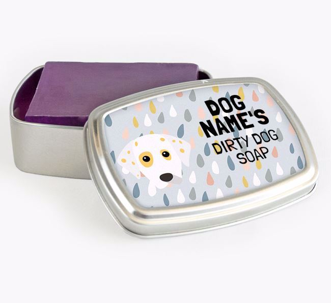 Personalised 'Dirty Dog' Soap Tin for your Dalmatian