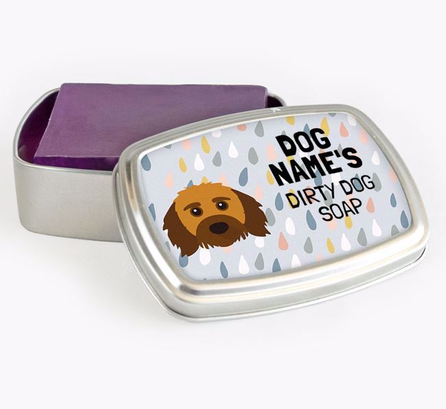 Personalised 'Dirty Dog' Soap Tin for your Doxiepoo
