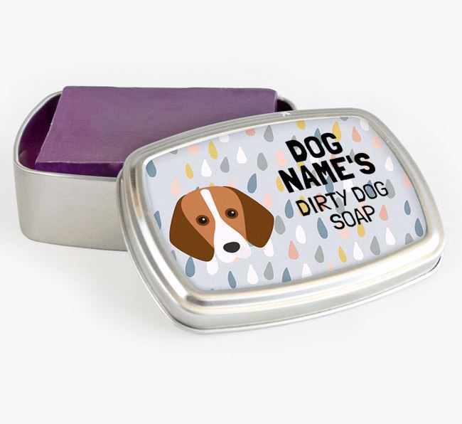 Personalised 'Dirty Dog' Soap Tin for your Foxhound