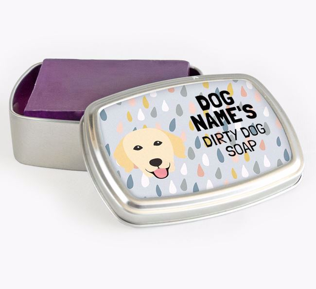 Personalised 'Dirty Dog' Soap Tin for your Golden Retriever