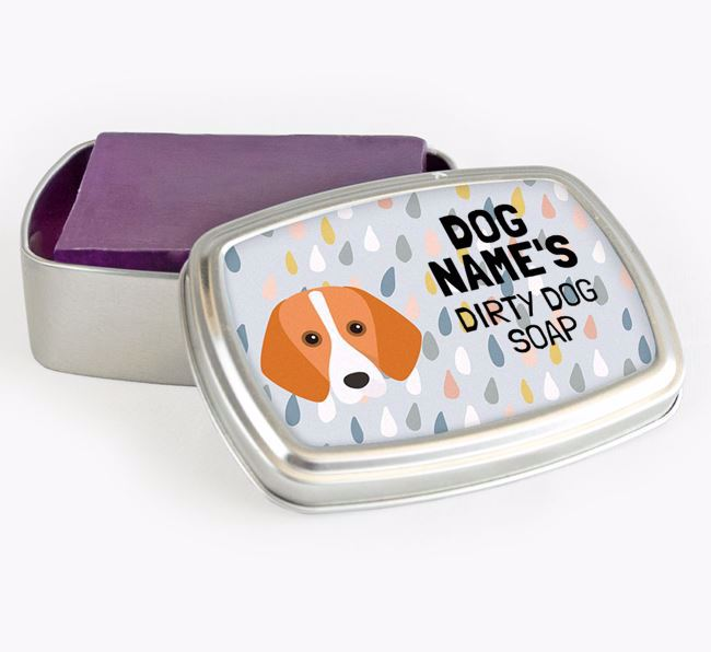 Personalised 'Dirty Dog' Soap Tin for your Harrier