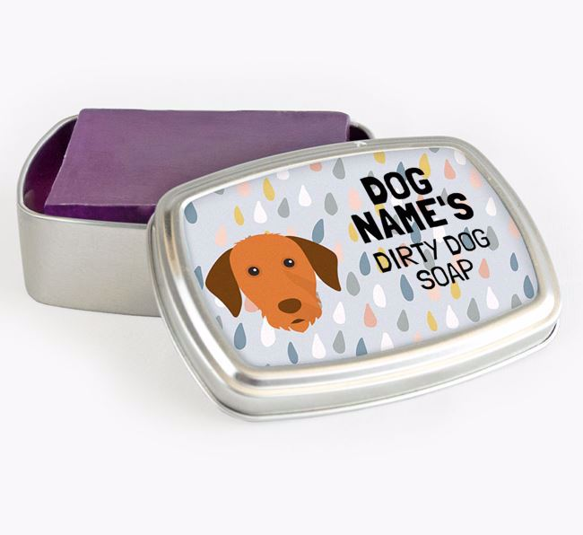 Personalised 'Dirty Dog' Soap Tin for your Hungarian Vizsla