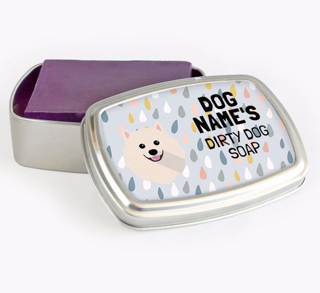 Personalised 'Dirty Dog' Soap Tin for your Pomeranian