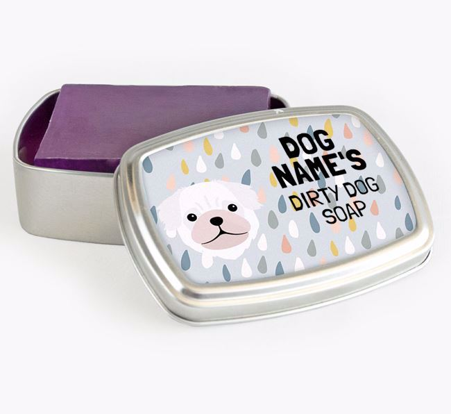 Personalised 'Dirty Dog' Soap Tin for your Pug