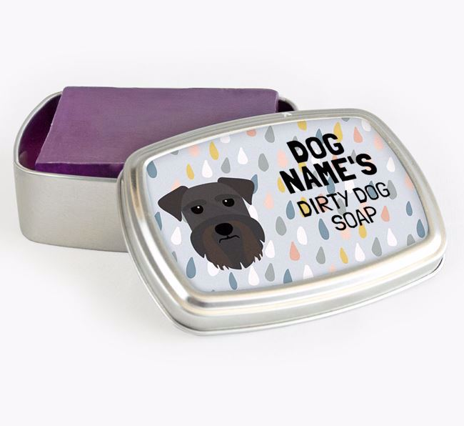 Personalised 'Dirty Dog' Soap Tin for your Schnauzer