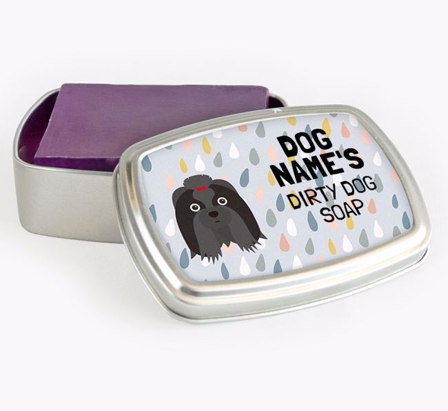 Personalised 'Dirty Dog' Soap Tin for your Shih Tzu