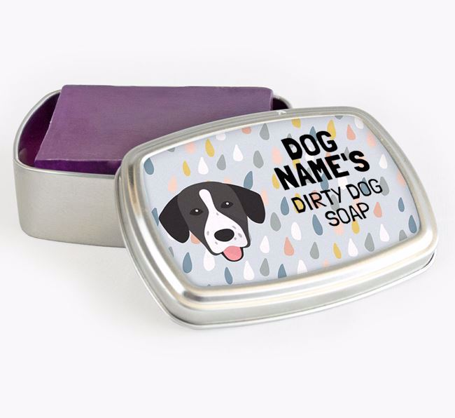 Personalised 'Dirty Dog' Soap Tin for your Springador