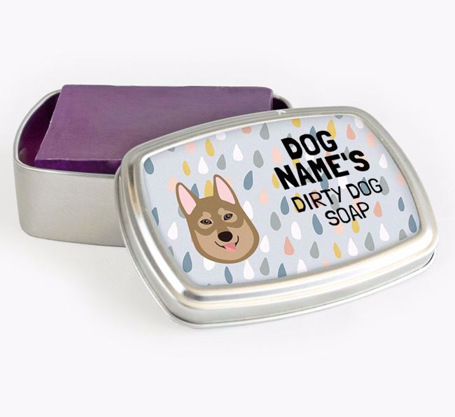 Personalised 'Dirty Dog' Soap Tin for your Tamaskan