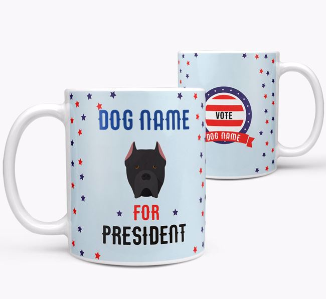 Personalized Vote Your Dog for President Mug