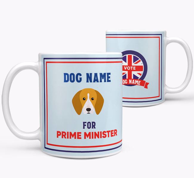 Personalised 'Prime Minister' Mug for your English Coonhound