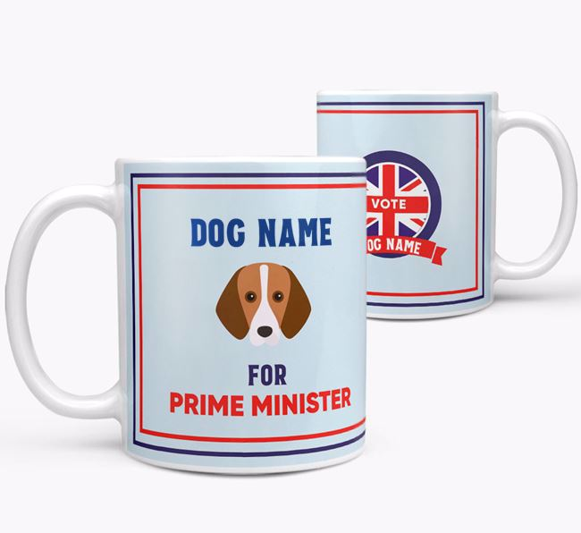 Personalised 'Prime Minister' Mug for your Foxhound
