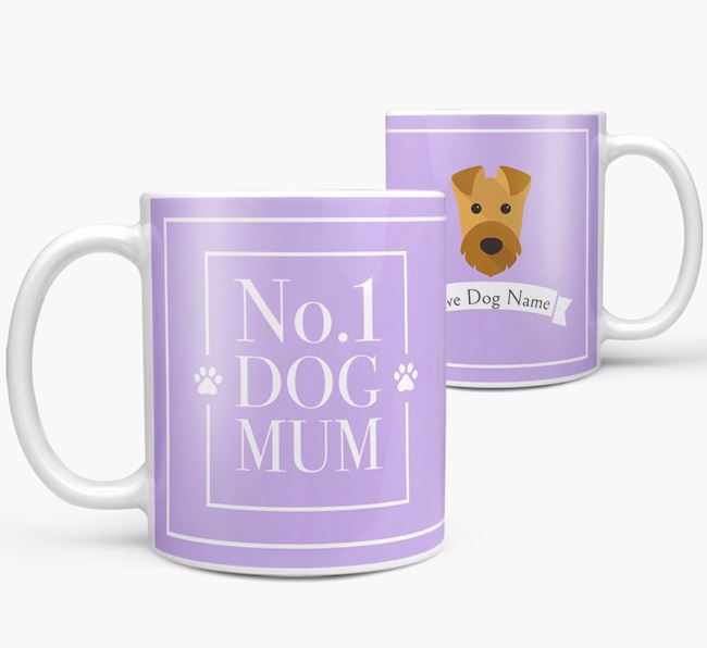 Personalised 'No.1 Mum' Mug from your Airedale Terrier