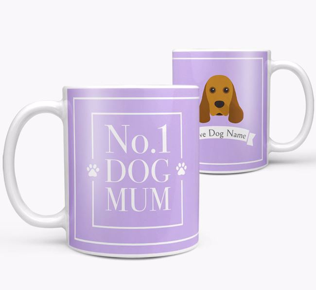 Personalised 'No.1 Mum' Mug from your American Cocker Spaniel