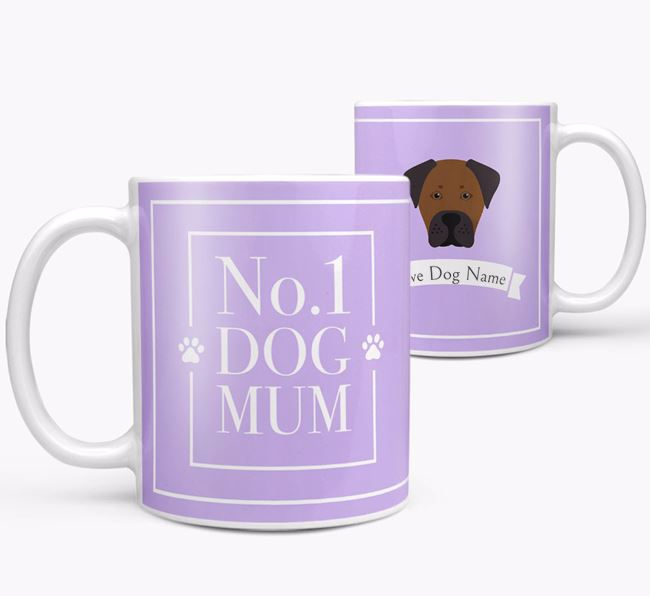 Personalised 'No.1 Mum' Mug from your Boxador