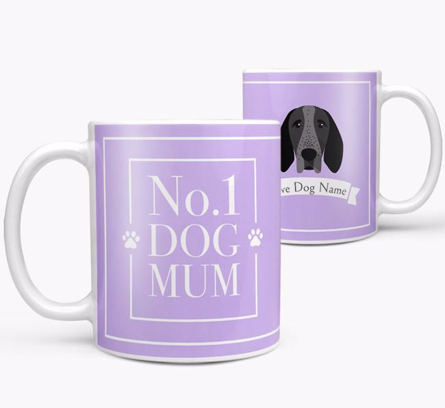 Personalised 'No.1 Mum' Mug from your Braque D'Auvergne