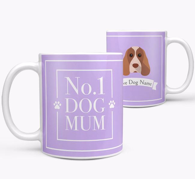 Personalised 'No.1 Mum' Mug from your Cocker Spaniel