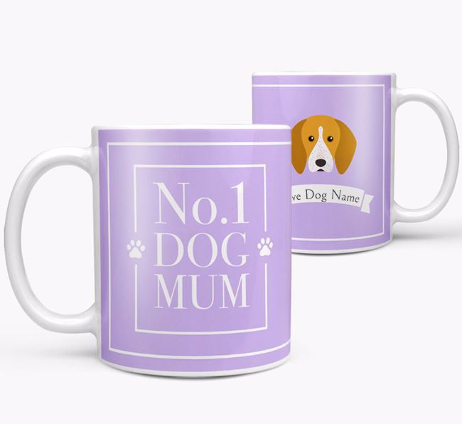 Personalised 'No.1 Mum' Mug from your English Coonhound