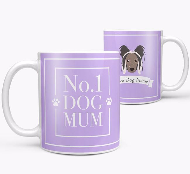 Personalised 'No.1 Mum' Mug from your Hairless Chinese Crested