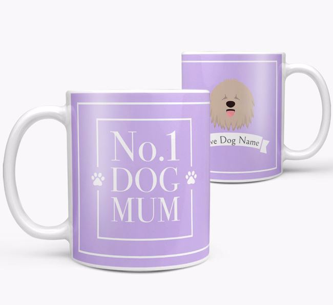 Personalised 'No.1 Mum' Mug from your Komondor