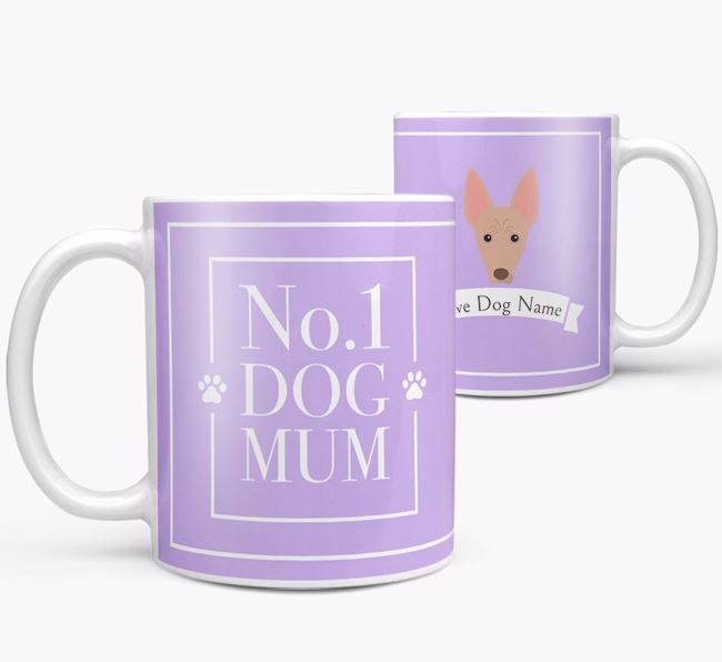 Personalised 'No.1 Mum' Mug from your Mexican Hairless