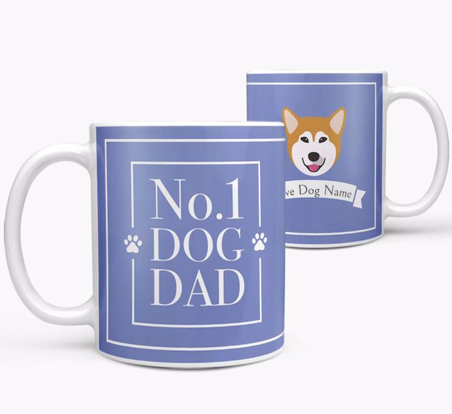 Personalised 'No.1 Dad' Mug from your Alaskan Malamute