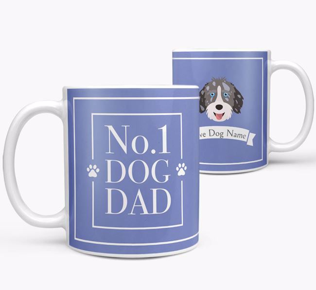 Personalised 'No.1 Dad' Mug from your Aussiedoodle