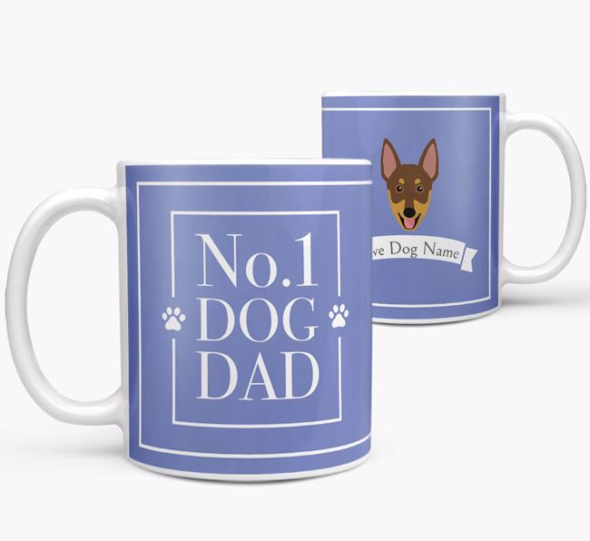 Personalised 'No.1 Dad' Mug from your Australian Working Kelpie