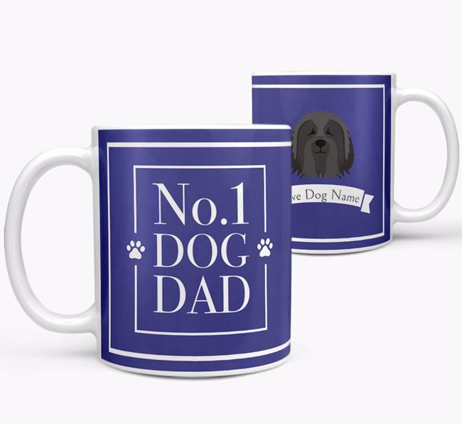 Personalised 'No.1 Dad' Mug from your Bearded Collie