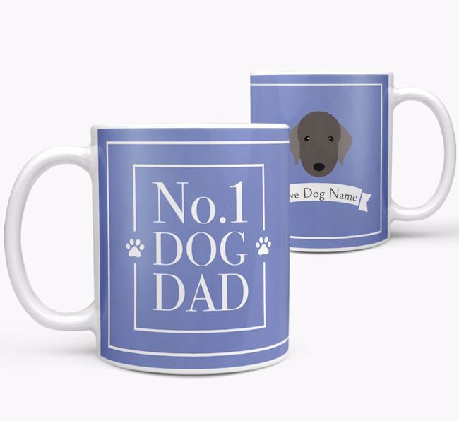 Personalised 'No.1 Dad' Mug from your Bedlington Terrier