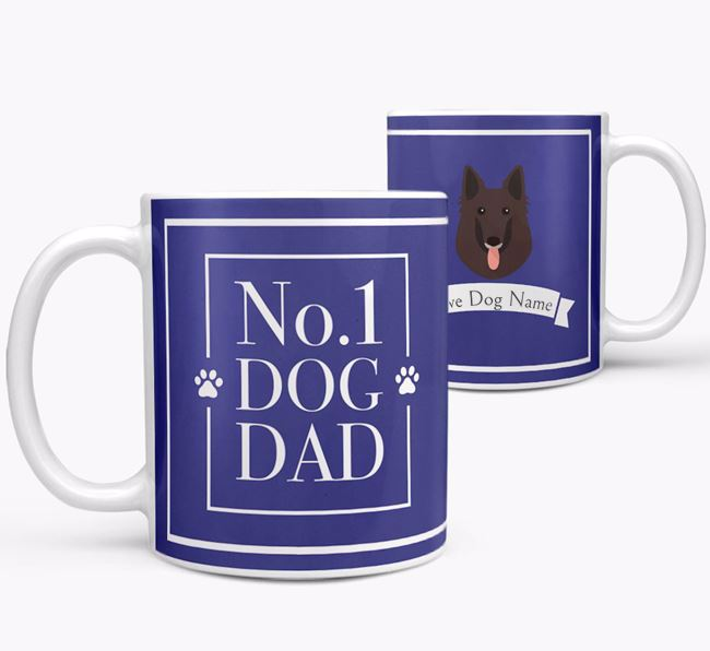 Personalised 'No.1 Dad' Mug from your Belgian Groenendael