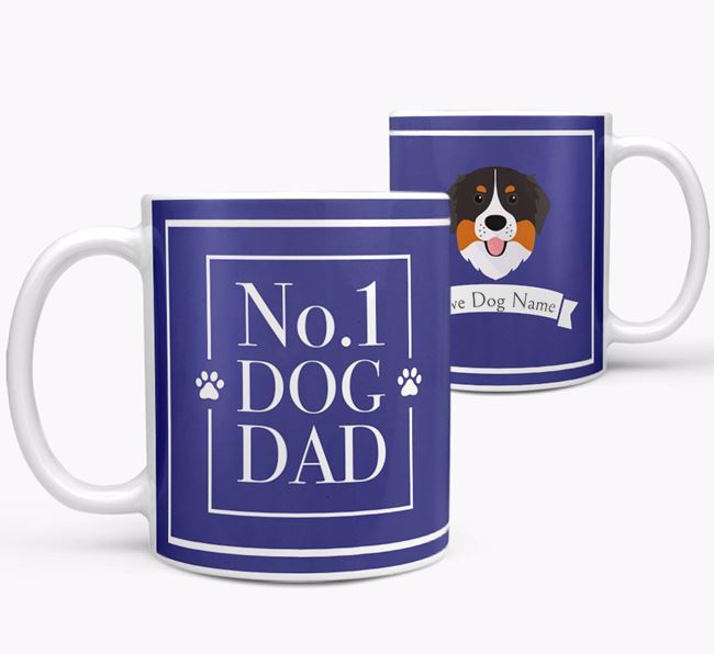 Personalised 'No.1 Dad' Mug from your Bernese Mountain Dog