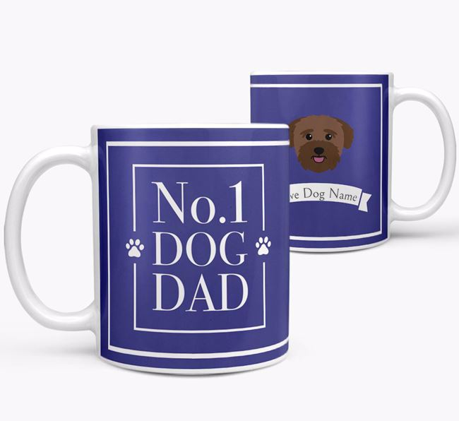 Personalised 'No.1 Dad' Mug from your Bichon Yorkie