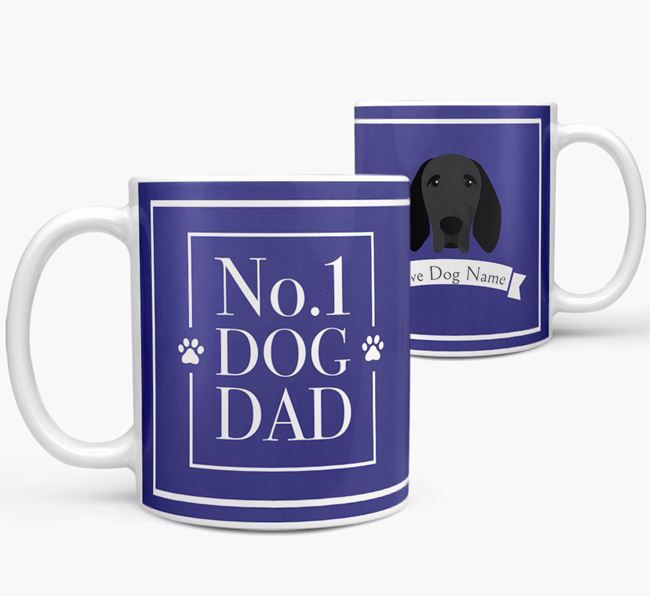 Personalised 'No.1 Dad' Mug from your Braque D'Auvergne