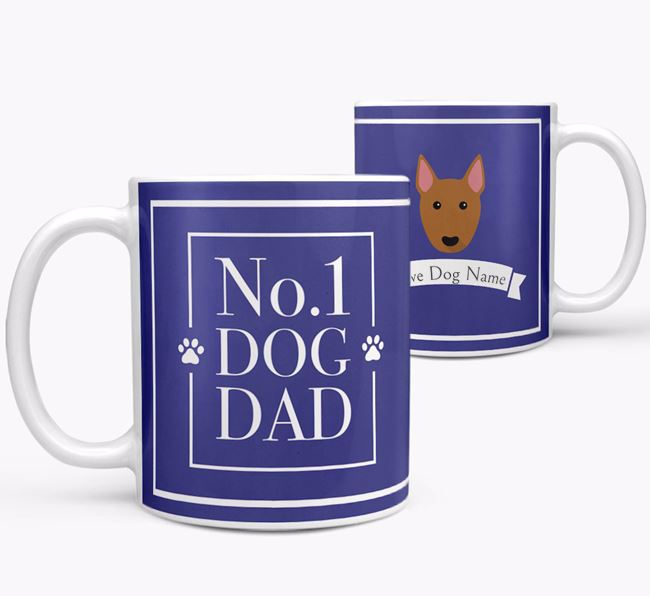 Personalised 'No.1 Dad' Mug from your Bull Terrier