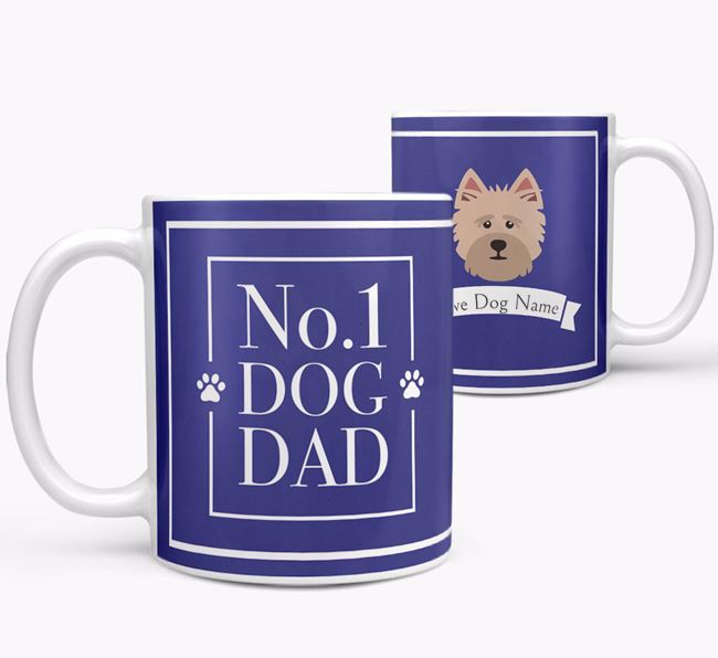 Personalised 'No.1 Dad' Mug from your Cairn Terrier