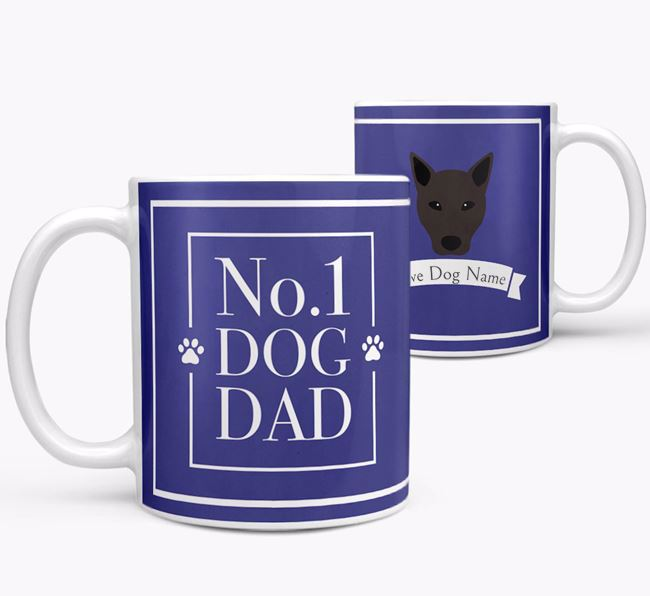 Personalised 'No.1 Dad' Mug from your Canaan Dog