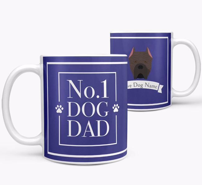 Personalised 'No.1 Dad' Mug from your Cane Corso Italiano