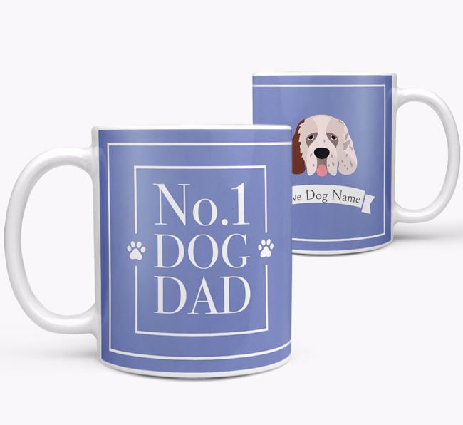 Personalised 'No.1 Dad' Mug from your Clumber Spaniel