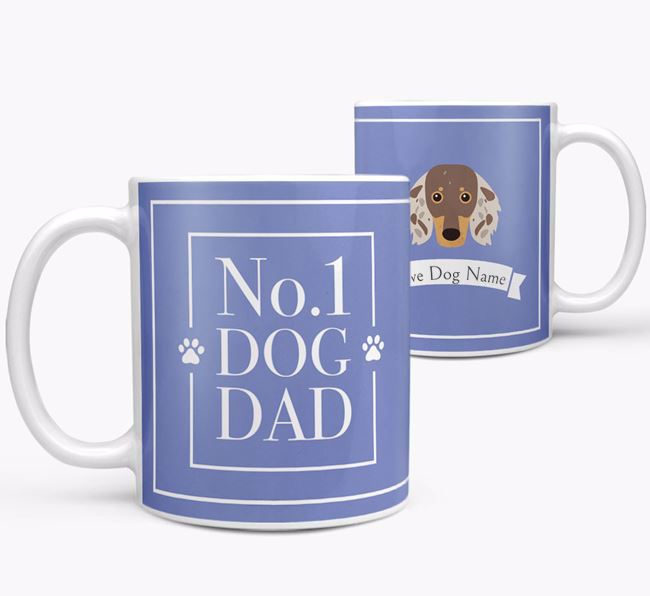 Personalised 'No.1 Dad' Mug from your Dachshund
