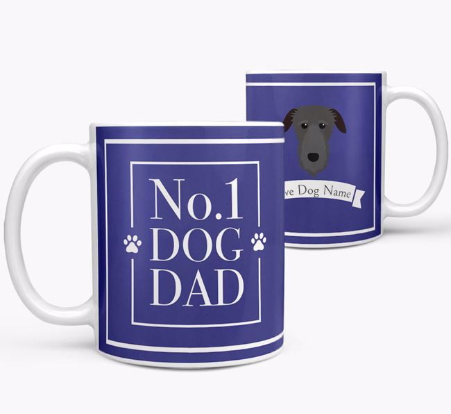 Personalised 'No.1 Dad' Mug from your Deerhound