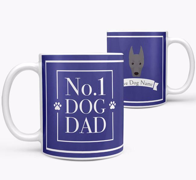 Personalised 'No.1 Dad' Mug from your Dobermann