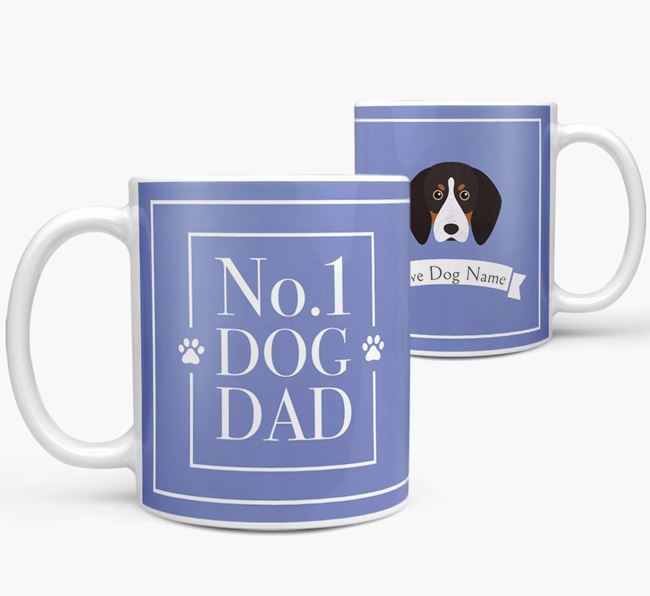 Personalised 'No.1 Dad' Mug from your English Coonhound