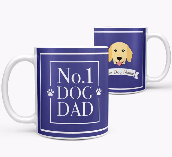 Personalised 'No.1 Dad' Mug from your Flat-Coated Retriever