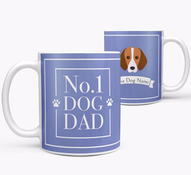 Personalised 'No.1 Dad' Mug from your Foxhound