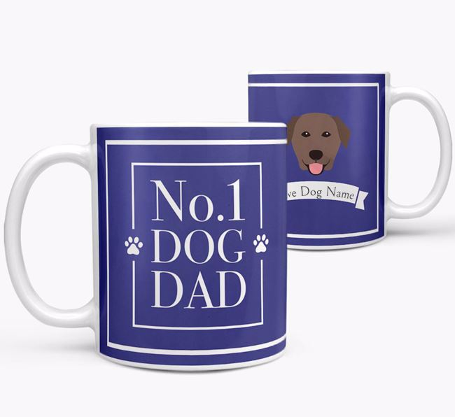 Personalised 'No.1 Dad' Mug from your Golden Labrador